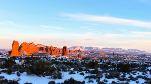 Sunrise at Arches National Park. So good.