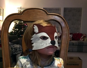 I made some of my small friends fox masks.